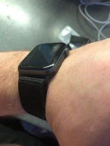 apple watch szövet szíj fekete színben