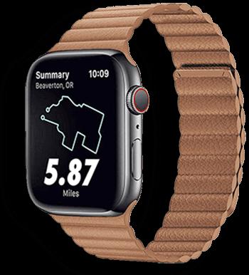 Apple Watch Leather Loop Bőr Szíj világos barna színben 38mm 40mm 42mm 44mm méretű apple watch okosórához
