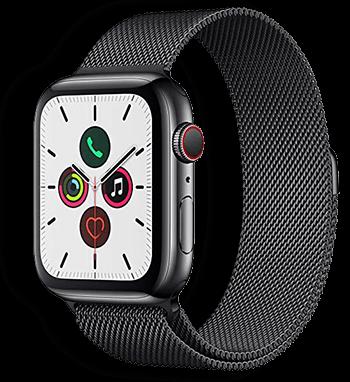 Apple Watch Milánói Milanese Fém Szíj fekete színben 38mm 40mm 42mm 44mm méretű apple watch okosórához